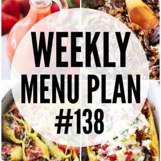 WEEKLY MENU PLAN (#138)