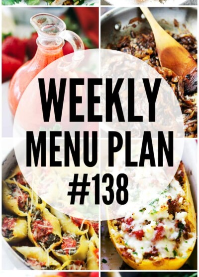 weekly menu plan, meal plan, recipes