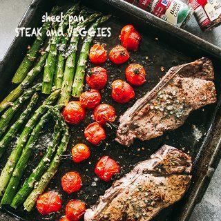Steak and Veggies Sheet Pan Dinner Recipe