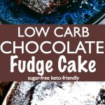 Low carb keto chocolate cake in a bowl