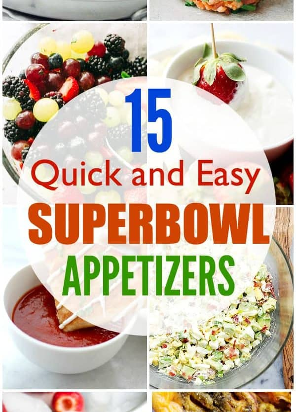 Easy Superbowl Appetizers
