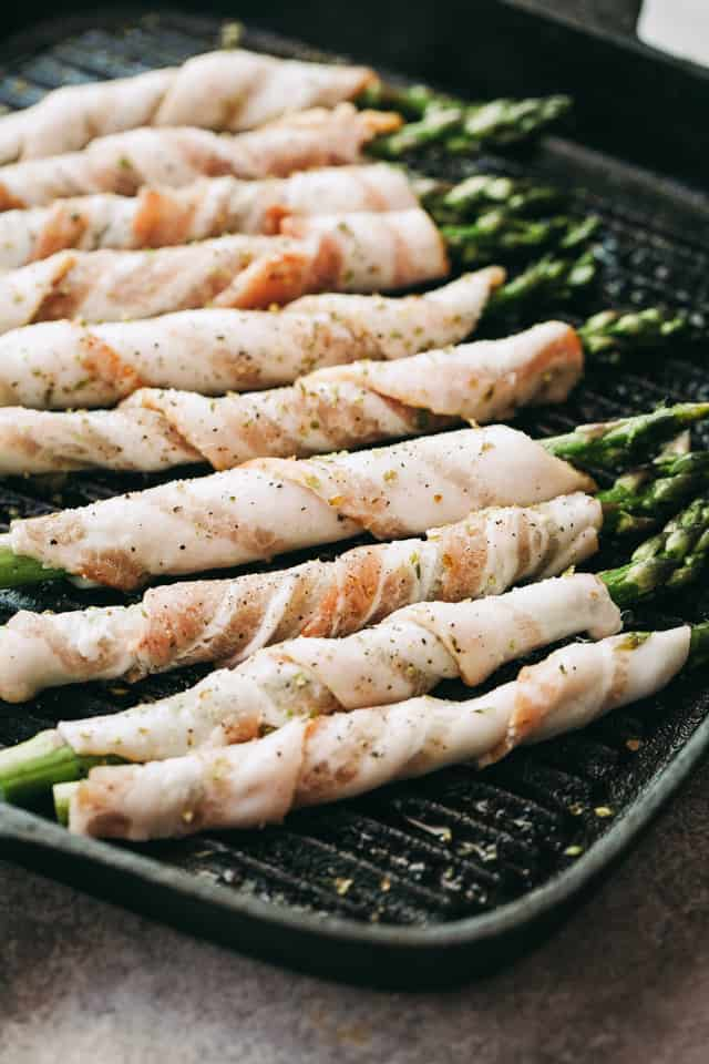 how to grill asparagus, bacon, Easter