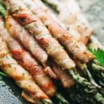 Bacon Wrapped Asparagus with Balsamic Glaze | Easter Side Dish Recipe