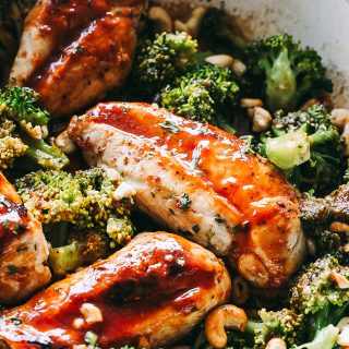 Skillet Catalina Chicken with Broccoli Recipe