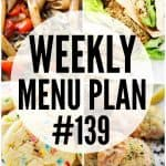 WEEKLY MENU PLAN (#139)