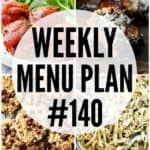 WEEKLY MENU PLAN (#140)