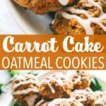 CARROT CAKE OATMEAL COOKIES PINTEREST IMAGE