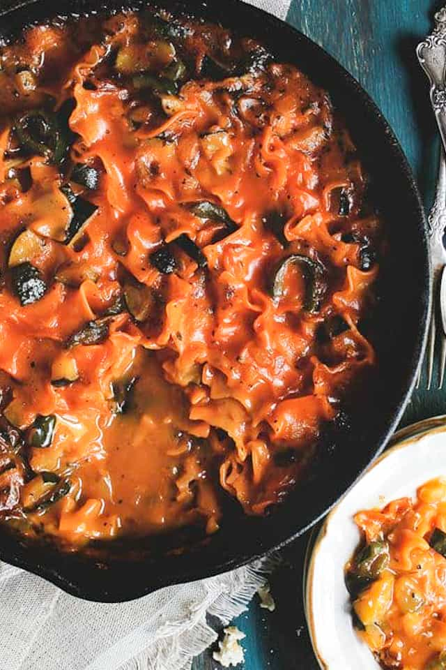 Skillet Vegetable Lasagna