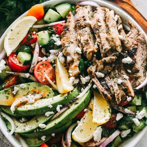 Steak Salad With Dijon Balsamic Dressing Low Carb Lunch Or Dinner Idea
