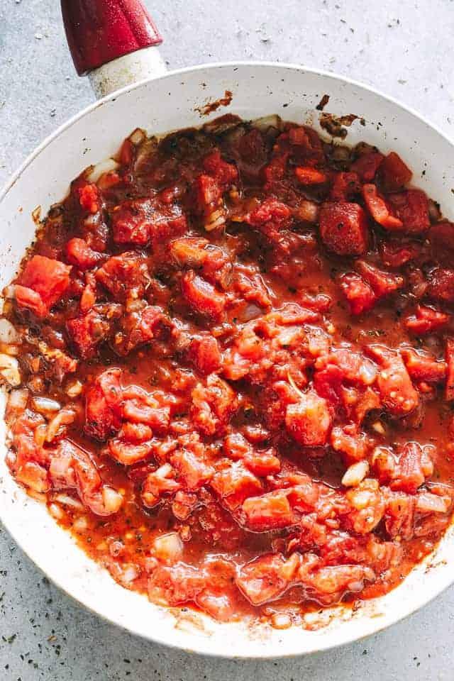 tomato sauce, wine, capers