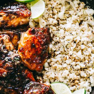 Honey Sriracha Chicken Recipe with Cauliflower Rice
