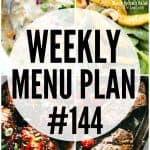 WEEKLY MENU PLAN (#144)