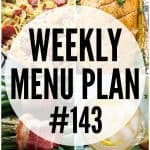 WEEKLY MENU PLAN (#143)