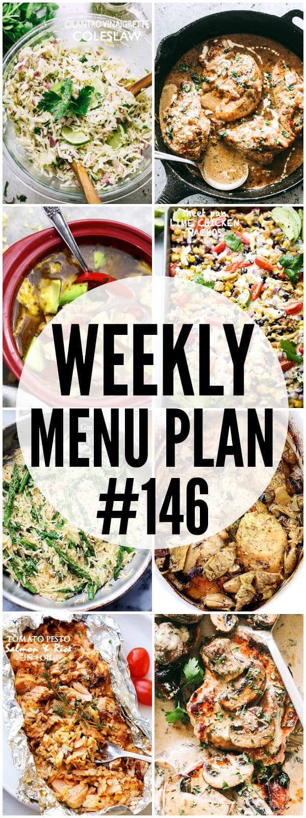 WEEKLY MENU PLAN, dinner recipes, soup, cookies