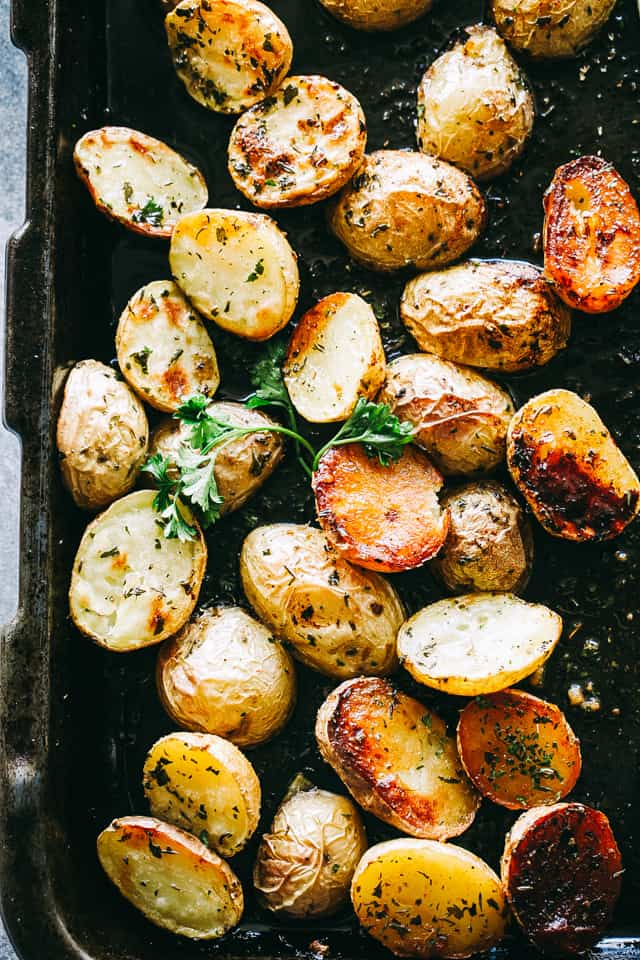 roasted potatoes, oven baked potatoes