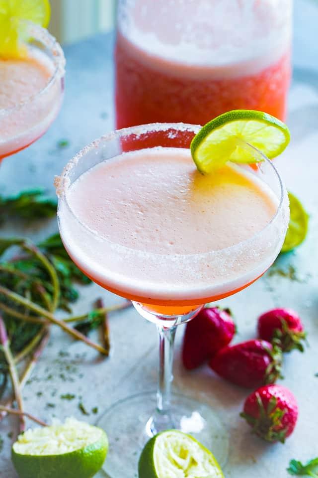 beergarita, margarita, strawberries, cinco de mayo