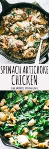 Spinach Artichoke Chicken Breasts Recipe | Easy Chicken Dinner Idea