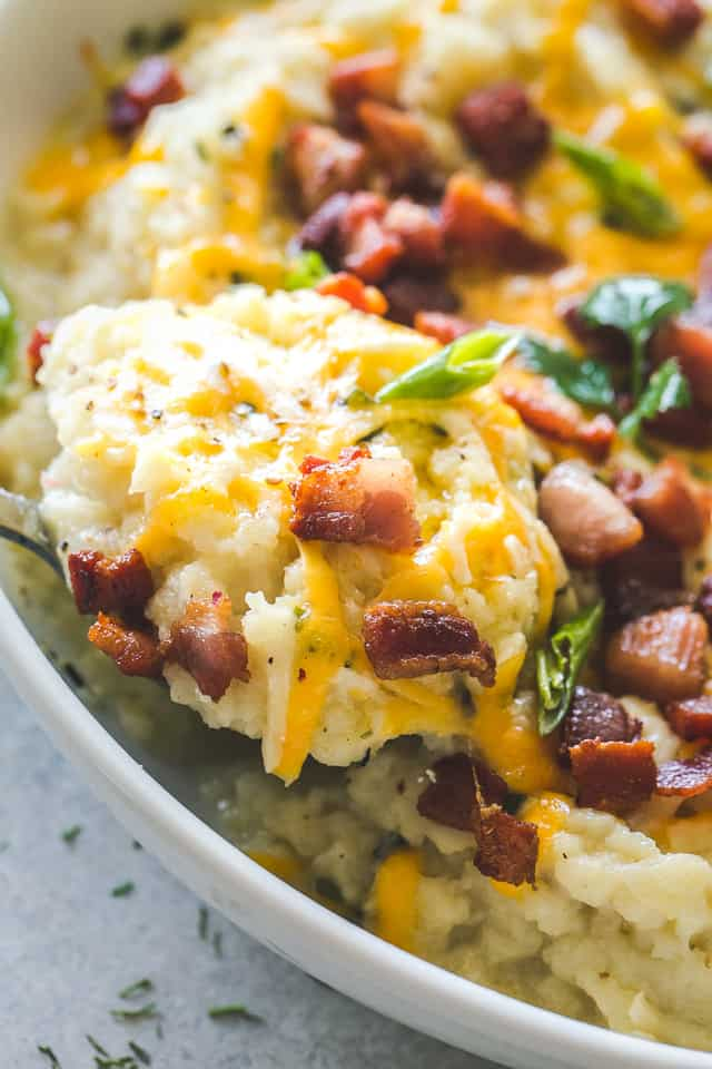 Instant Pot, Loaded Mashed Cauliflower
