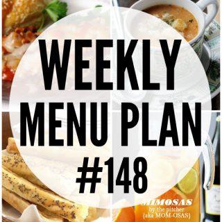 WEEKLY MENU PLAN (#148)