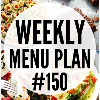 WEEKLY MENU PLAN (#150)