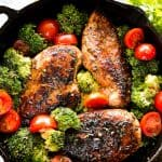 One Skillet Honey Balsamic Chicken and Veggies