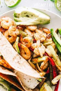 Skillet Shrimp Fajitas Recipe | Easy Shrimp Recipe for Weeknight Dinner!