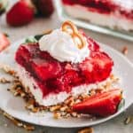 Strawberry Pretzel Dessert Recipe | Potluck or Backyard Party Dessert