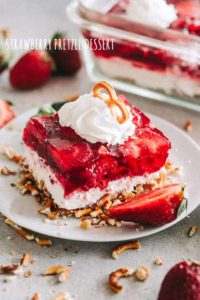 Strawberry Pretzel Dessert Recipe | Potluck or Backyard Party Dessert