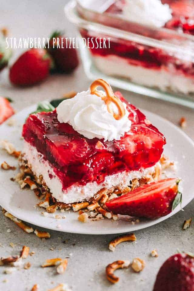 Strawberry Pretzel Dessert Recipe Potluck Or Backyard Party Dessert