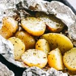 Garlic Herb Grilled Potatoes in Foil