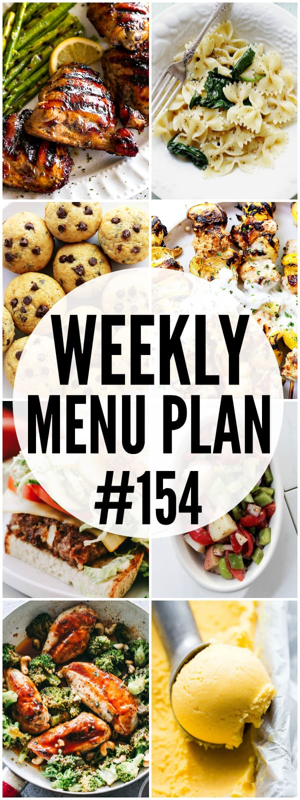 WEEKLY MENU PLAN (#154) - A delicious collection of dinner, side dish and dessert recipes to help you plan your weekly menu and make life easier for you!