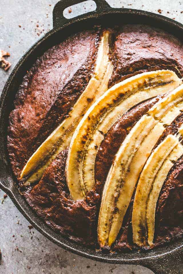 Skillet Chocolate Banana Bread Recipe | Easy Chocolate Banana Bread!
