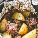 Garlic Herb Steak and Potato Foil Packs