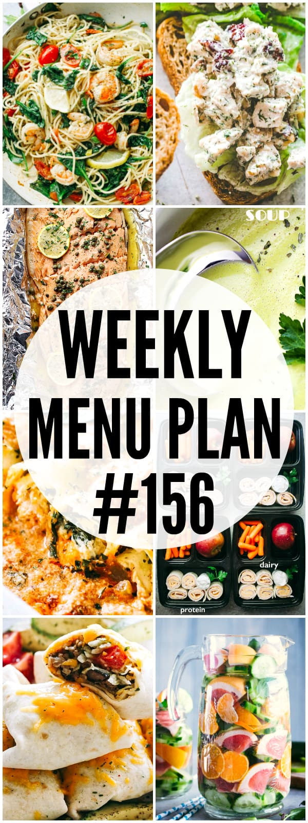 WEEKLY MENU PLAN (#156) -A delicious collection of dinner, side dish and dessert recipes to help you plan your weekly menu and make life easier for you!