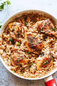 Garlic Butter Chicken & Rice | An EASY Chicken Recipe + Dinner Idea!