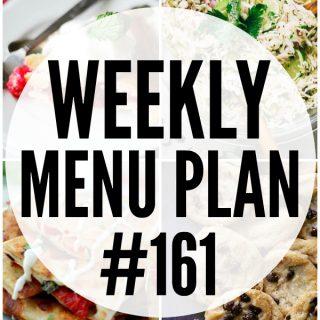 WEEKLY MENU PLAN (#161)