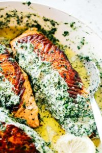 Stuffed Salmon with Spinach and Artichoke Dip | Easy Salmon Recipes