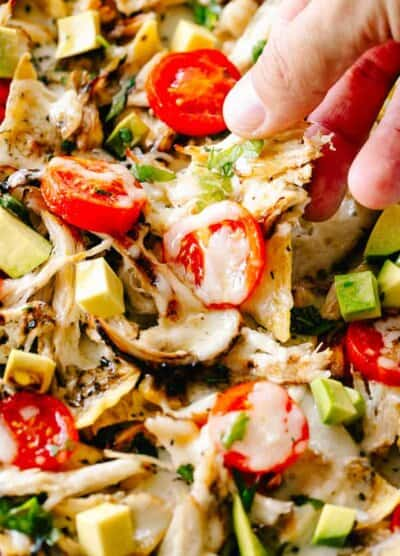 Cheesy Caprese Chicken Nachos | Easy Chicken Breasts Dinner Recipe!