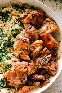 Juicy Stove Top Chicken Thighs - Perfectly golden, tender, and juicy skinless and boneless chicken thighs prepared on the stove top.These delicious pan seared chicken thighs make for a wonderful meal that's surprisingly easy, and the pan sauce is amazing!