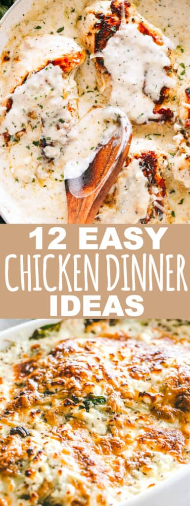 12 Easy Chicken Dinner Ideas Your Family Will Love - Easy, fresh, quick, and delicious chicken dinners that your family will love!With the help of thesefamily friendly chicken dinner ideas, you will always have a meal on the table plus a happy bunch to enjoy it.