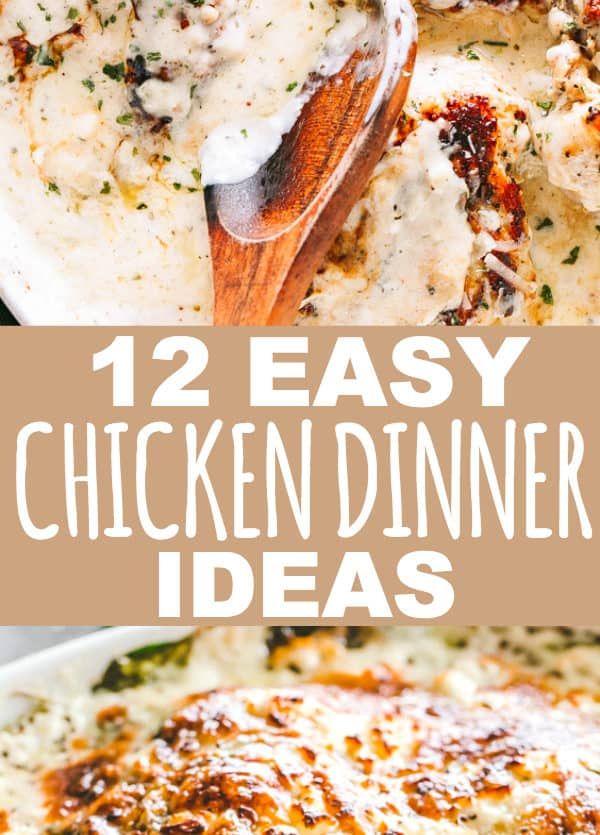 12 Easy Chicken Dinner Ideas Your Family Will Love - Easy, fresh, quick, and delicious chicken dinners that your family will love! With the help of these family friendly chicken dinner ideas, you will always have a meal on the table plus a happy bunch to enjoy it.