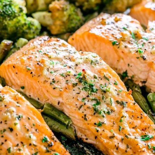 Garlic Butter Baked Salmon | Easy Oven Baked Salmon Recipe