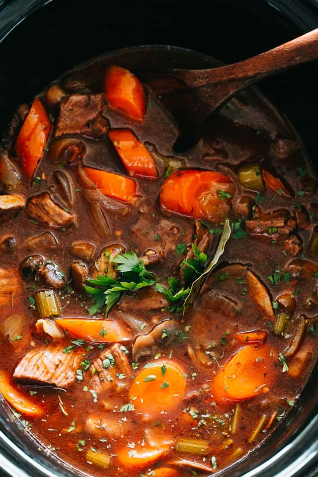 Best Ever Slow Cooker Beef Stew Crock Pot Recipe Easy Dinner Idea