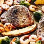 Sheet Pan Steak and Shrimp Dinner (Surf & Turf)