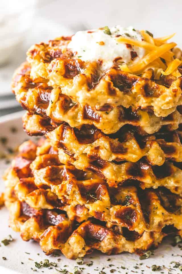 Cheesy Potato Waffles Recipe How To Use Leftover Mashed Potatoes