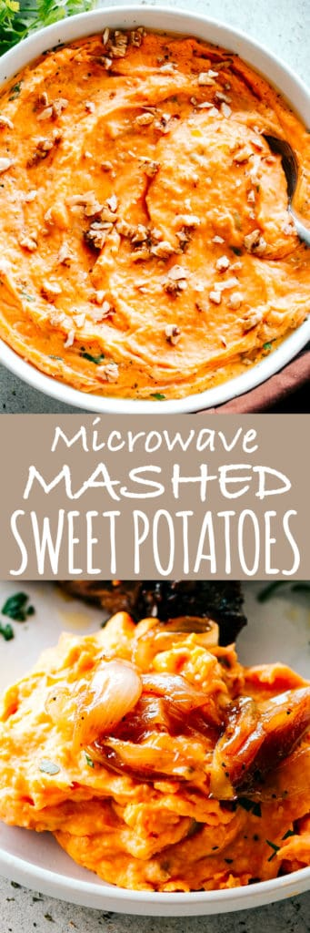 Mashed Sweet Potatoes in the Microwave