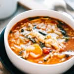 Leftover Turkey Soup Recipe with Orzo and Spinach