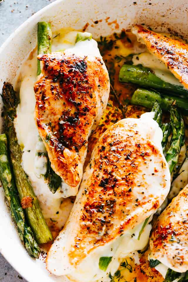 Cheesy Asparagus Stuffed Chicken Breasts Recipe