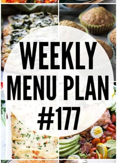 WEEKLY MENU PLAN 177