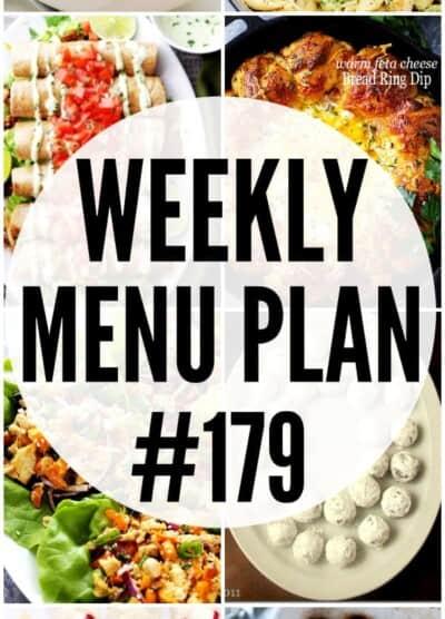 WEEKLY MENU PLAN 179